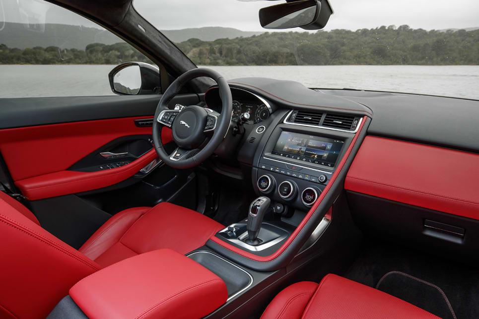 jaguar e pace 2018 review carsguide. Black Bedroom Furniture Sets. Home Design Ideas