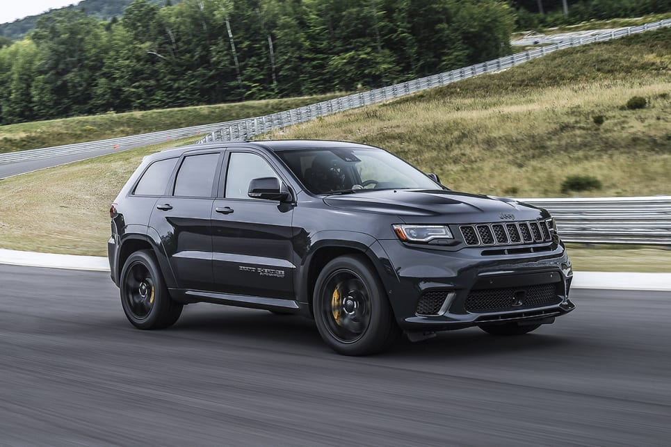 2018 jeep grand cherokee srt. beautiful 2018 the bodycoloured wheel arch flares and bonnet vents are shared with the srt  intended 2018 jeep grand cherokee srt