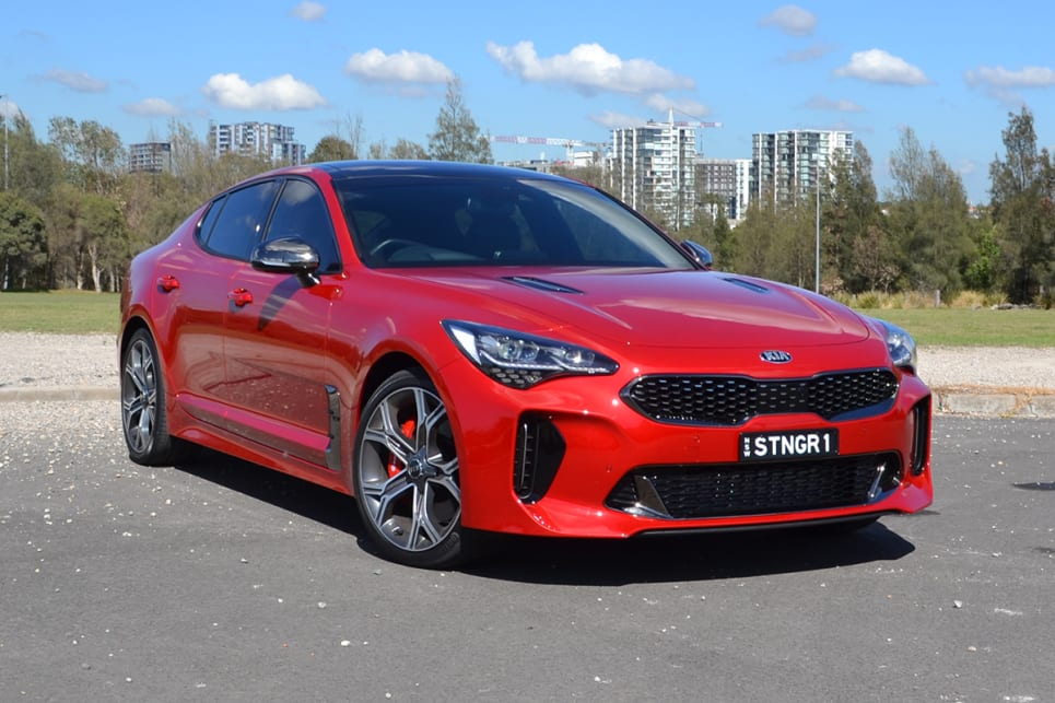 kia stinger gt 2017 review carsguide. Black Bedroom Furniture Sets. Home Design Ideas