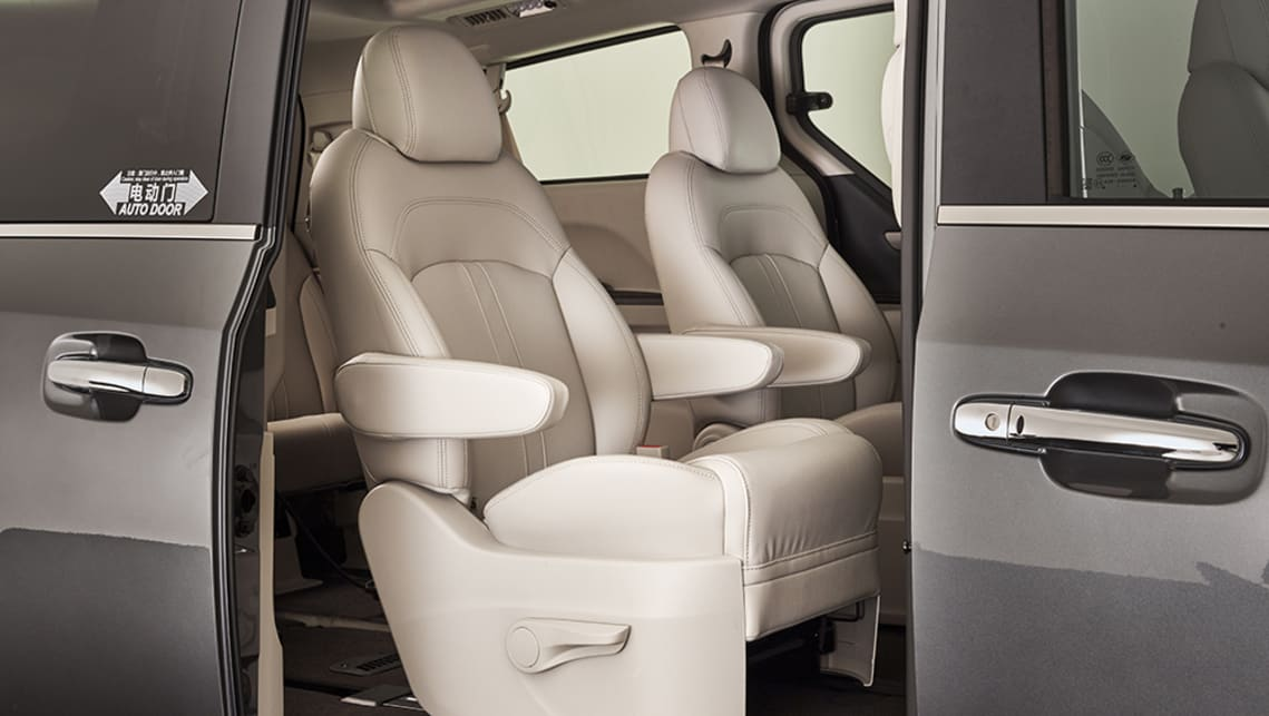 Plus the Executive brings new dual electric sliding side doors with remote opening, an electric tailgate on the seven-seat model with handsfree motion sensor.