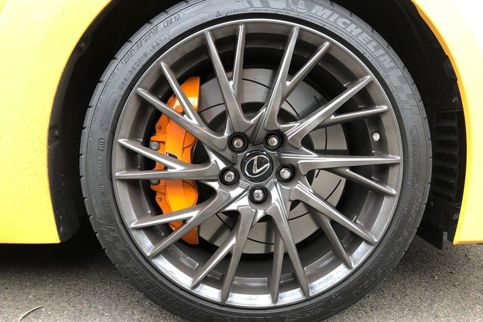 Step up to the F Sport Trim and you'll get bigger 19-inch alloys. (RC F pictured) (image: Andrew Chesterton)