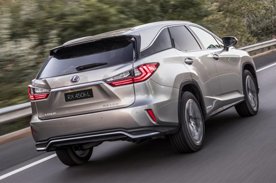 Lexus engineers extended the RX's body by 110mm and raised its roof peak by 10mm to accommodate the extra row of two seats.