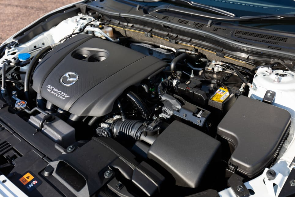 The Mazda has the lowest outputs here, pushing 114kW/200Nm through a six-speed automatic transmission.