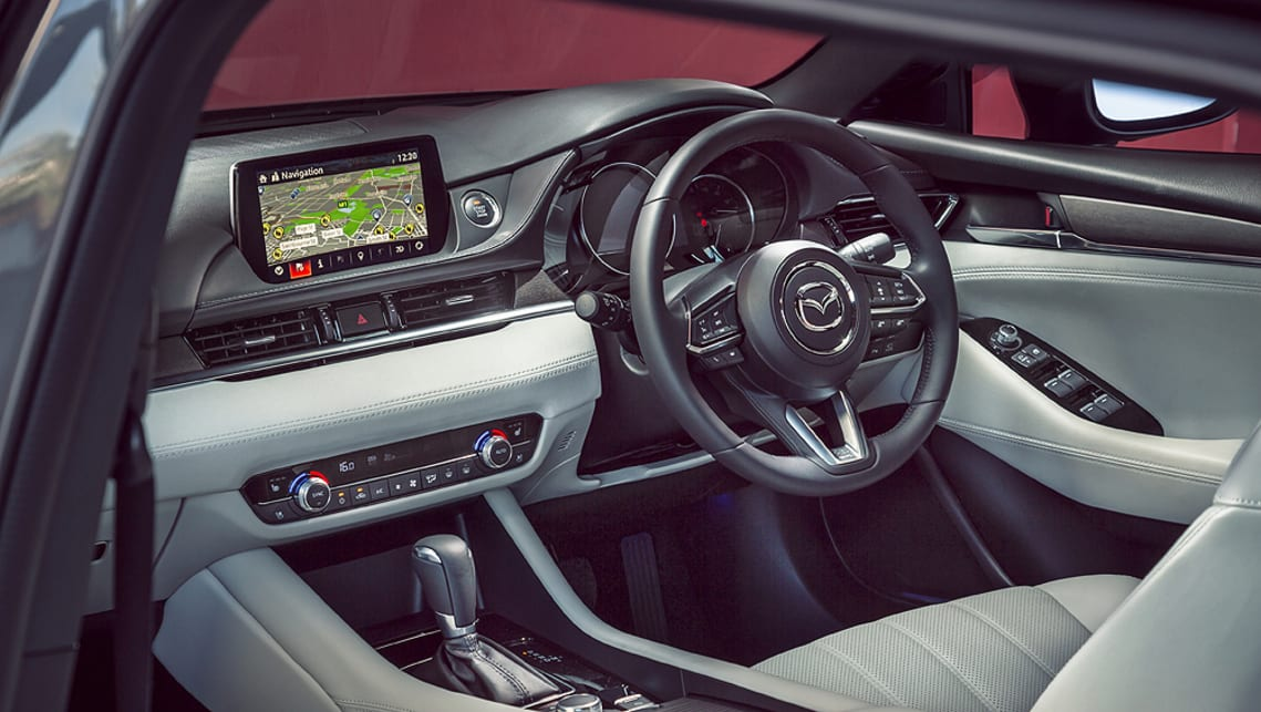 Sport variant and up includes dual-zone climate control air-conditioning with rear vents, 8.0-inch full-colour touchscreen display, six-speaker audio system and sat-nav.