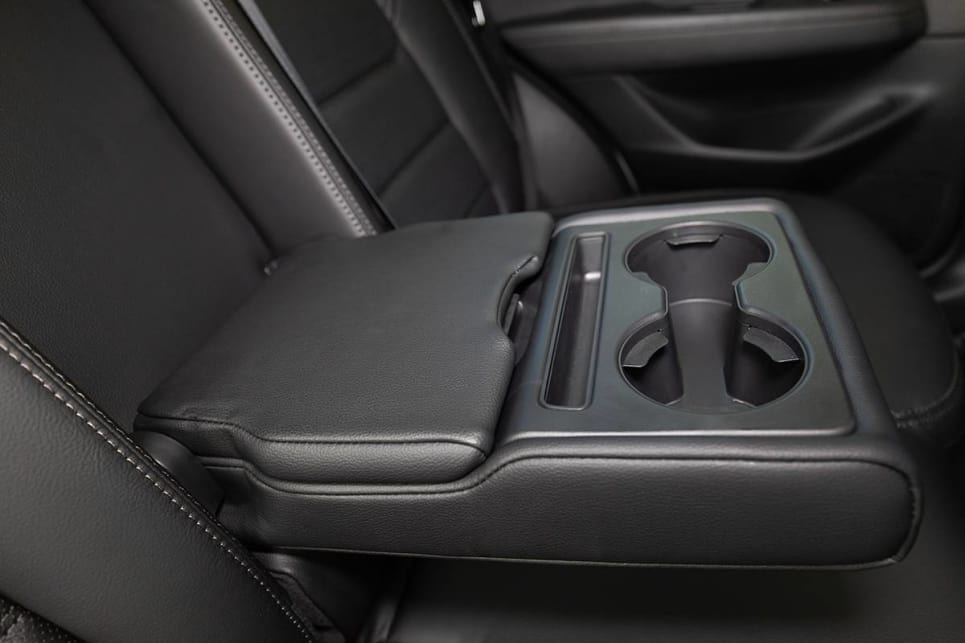 There are two cupholders in the back that will house a large keep cup, and two in the centre armrest in the back.