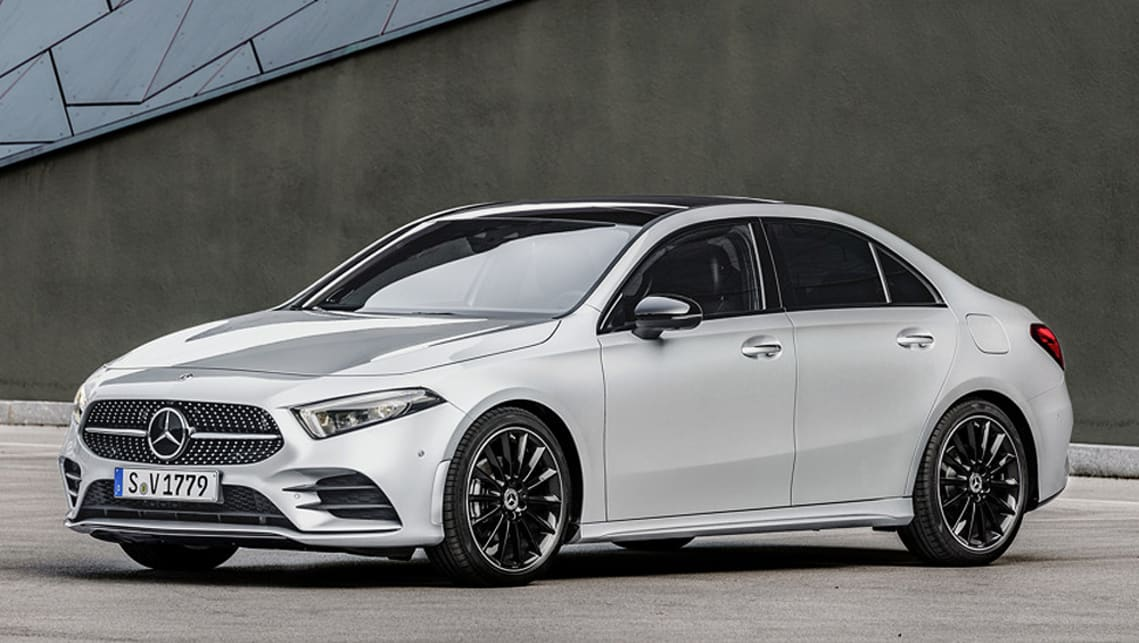 mercedes benz a class sedan 2018 revealed car news carsguide. Black Bedroom Furniture Sets. Home Design Ideas
