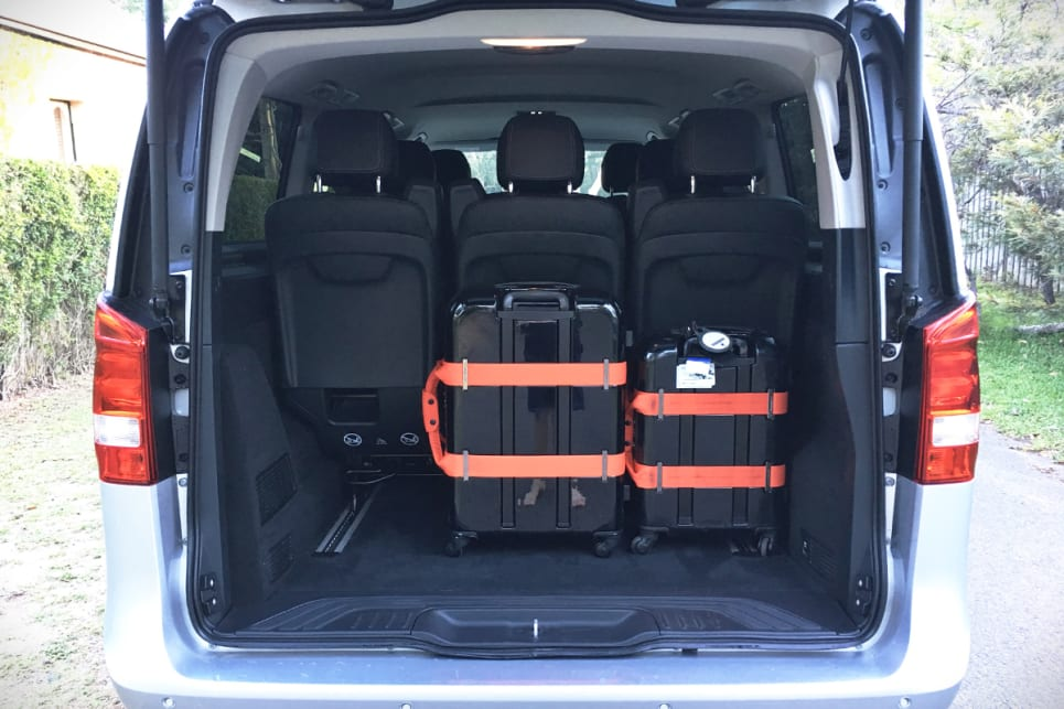 The V Class Has 1030L Of Cargo Capacity In Its Most Downsized Form. Remove  The Rear Seats And It Grows To 4630L.