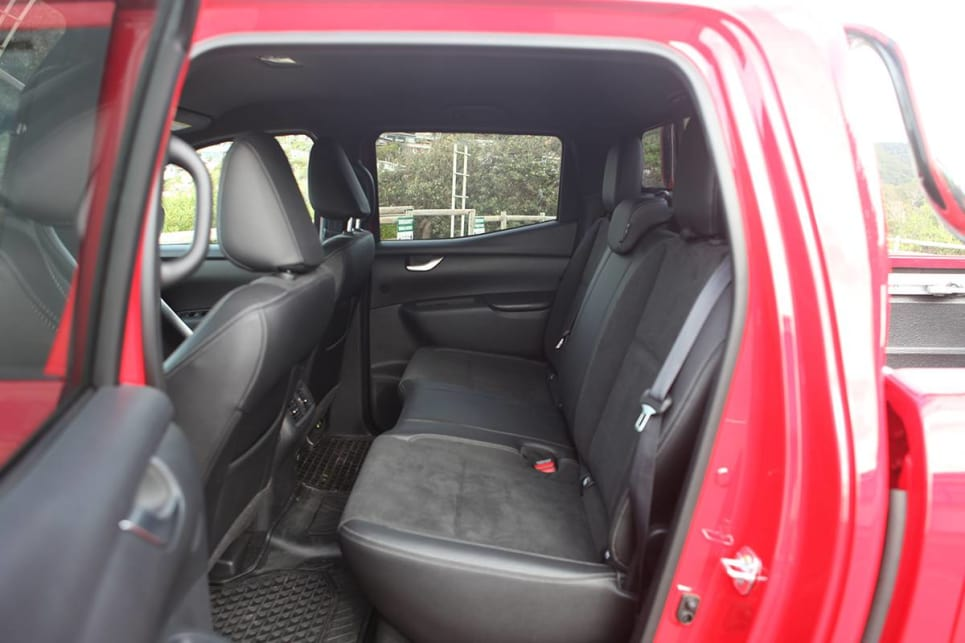 The rear seat is comfy enough, but those beyond 180cm and 100kg will be squeezed.