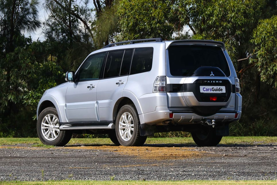 The Pajero's large boxy visage remains virtually untouched from its 2006 introduction.