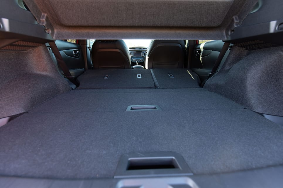 Fold the back seats down flat and the boot opens up quite dramatically to 1598 litres.