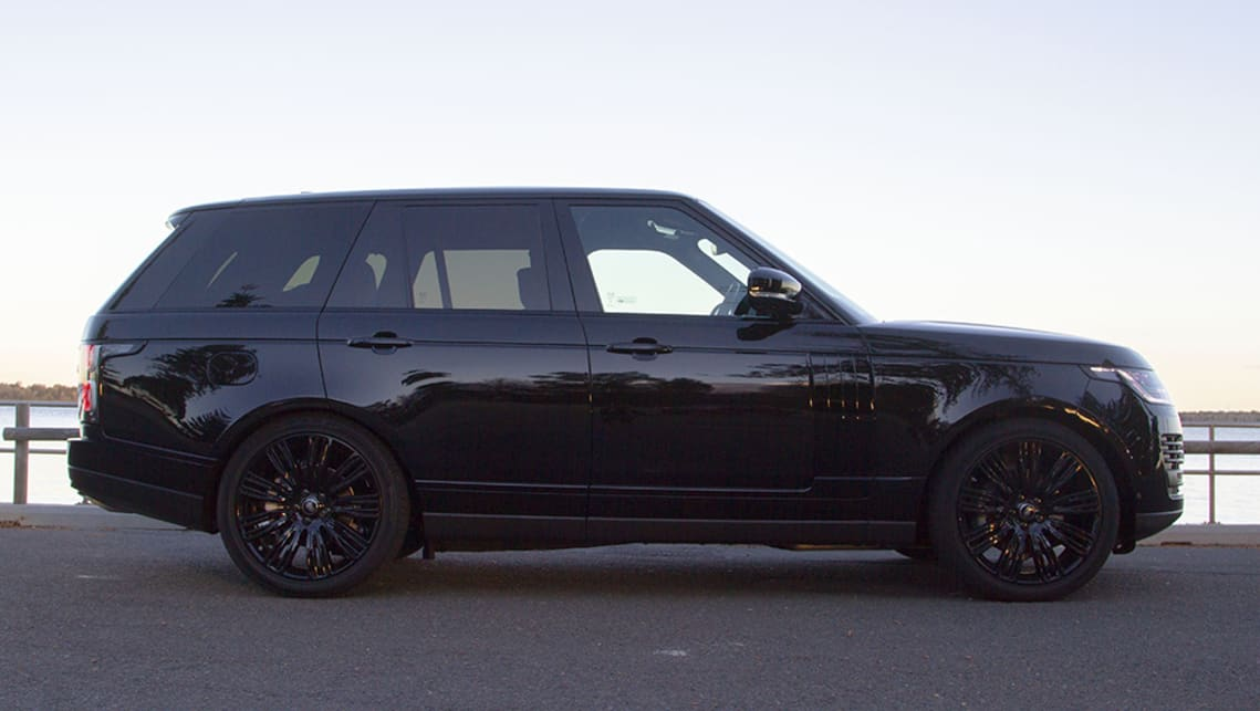 The Range Rover is a hefty machine, and while it looks big, it does not look as overbearing as a car five metres long and over 180cm tall could. (image: Peter Anderson)