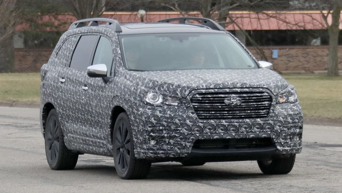 2018 subaru minivan. simple 2018 2018 subaru ascent suv  spy pics for subaru minivan