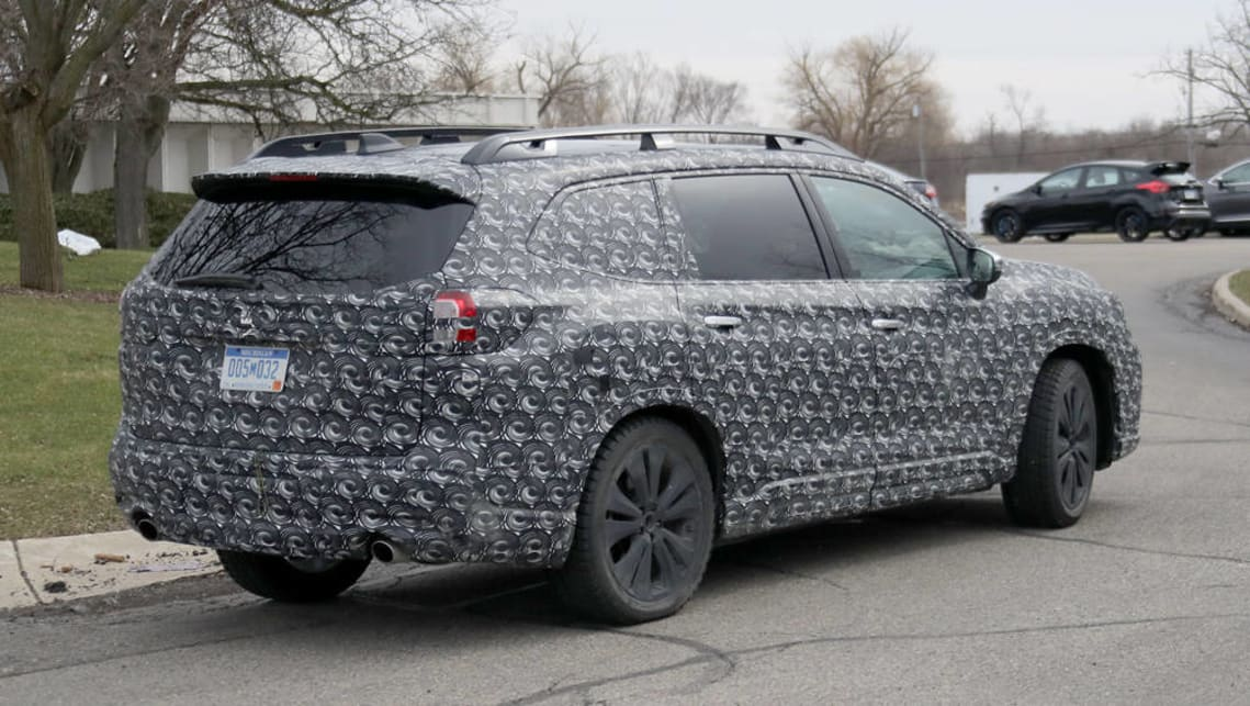 2018 subaru ascent suv. plain subaru subaruu0027s new ascent sevenseat suv has been spied testing in the us with 2018 subaru ascent suv