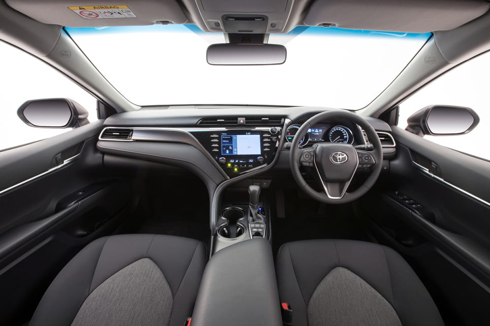 2018 Toyota Camry Ascent Sport Hybrid pictured.