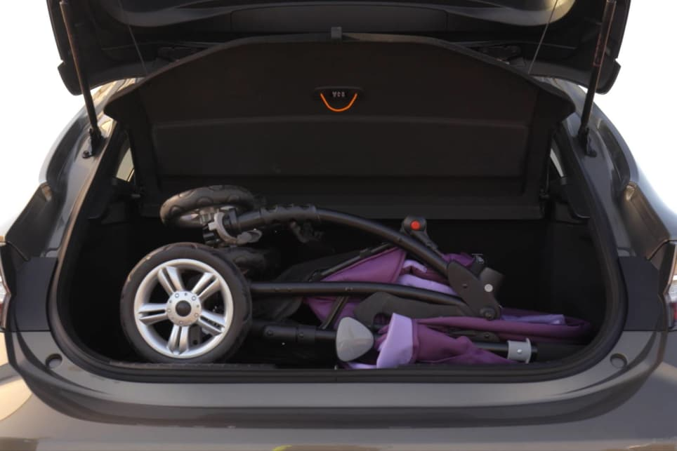 The Corolla's high boot floor eats into the cargo area, to the point that the boot space is shallower than a lot of micro cars.