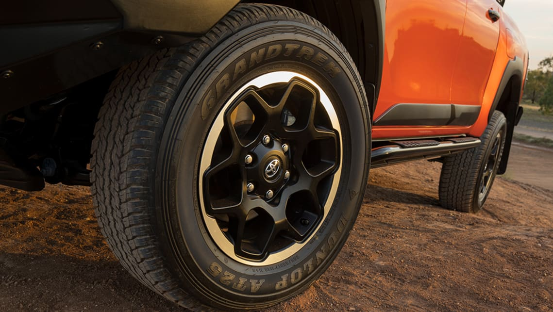 Both the Rogue, Rugged, and Rugged X come with unique alloy wheels.