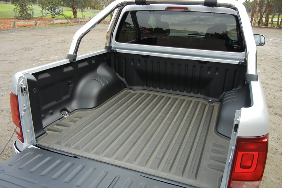 Our test vehicle is also fitted with the VW genuine accessory five-piece tub-liner kit