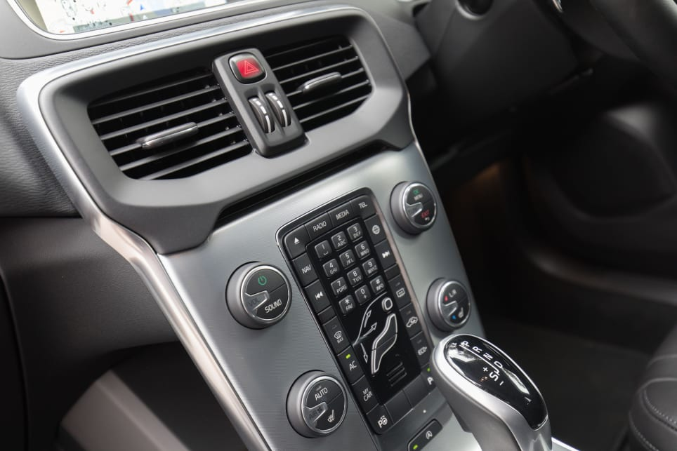 All of these buttons will be replaced by a sexy, large touchscreen in the new V40. (image credit: Richard Berry)