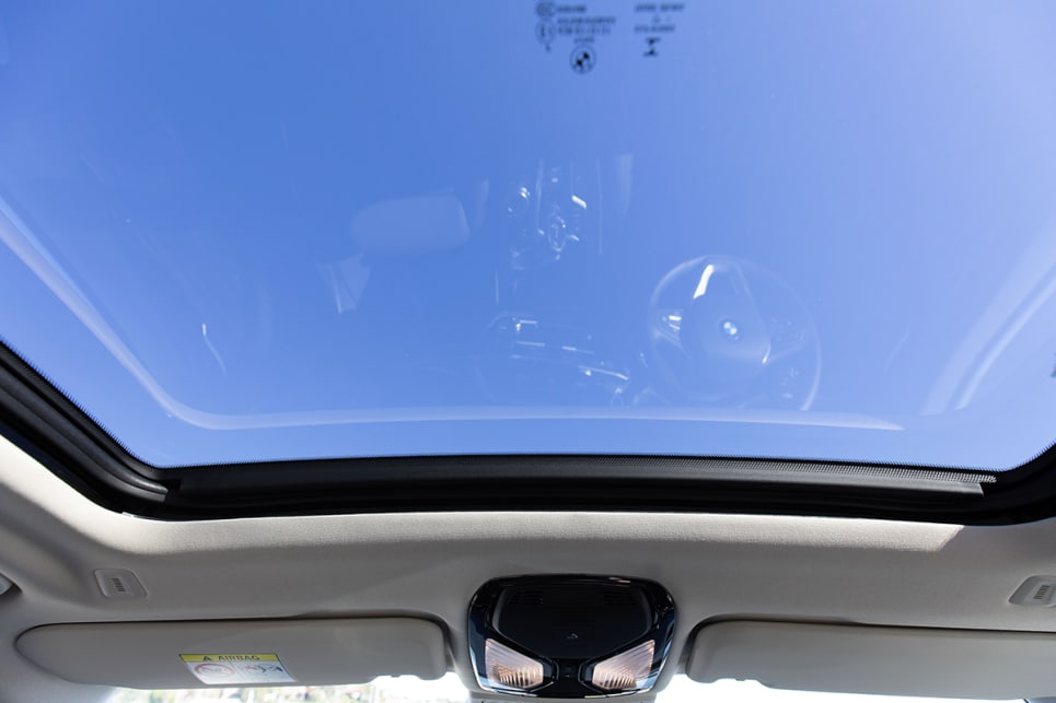Even with the panoramic sunroof, there is loads of headroom.