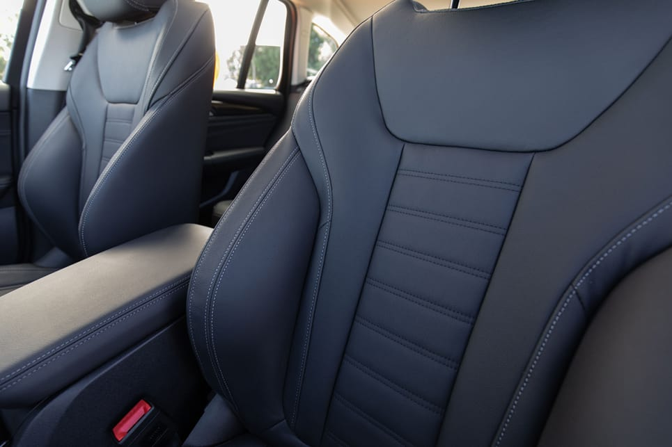 In this model you'll get partial leather seats which still feel comfortable and good to touch.