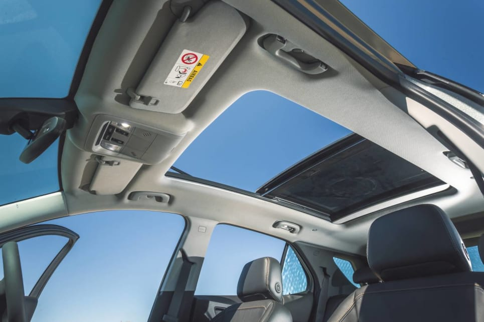 The sunroof drops the headlining down to uncomfortably low levels, both front and rear, for taller occupants.
