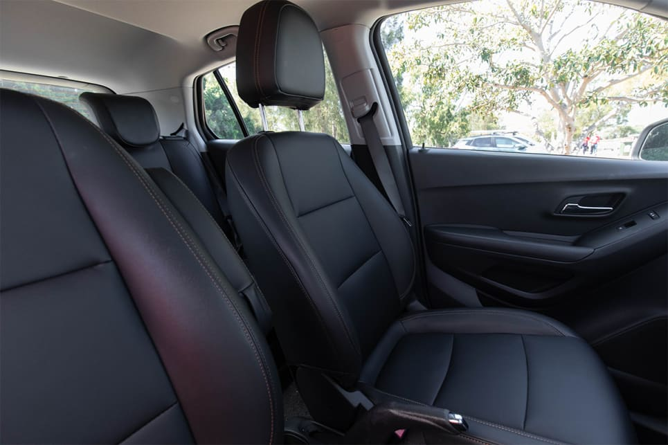 The seats in this top spec are leather-look, so it's not real leather and it doesn't look like it. (image credit: Dean McCartney)