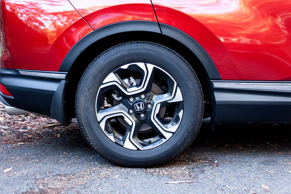 The CR-V is the only one with 18-inch alloy wheels.