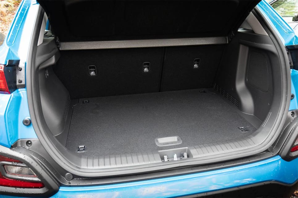 With the rear seats up, the Kona has 361 litres of boot space. (image credit: Dean McCartney)