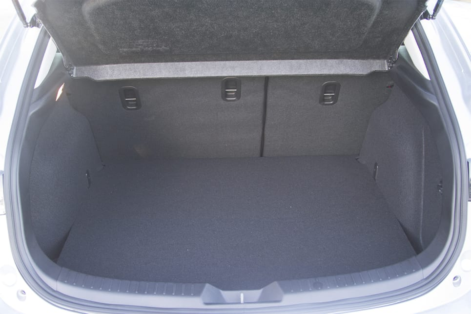 the hatch offers 308 litres of boot space  (image credit: peter  anderson)