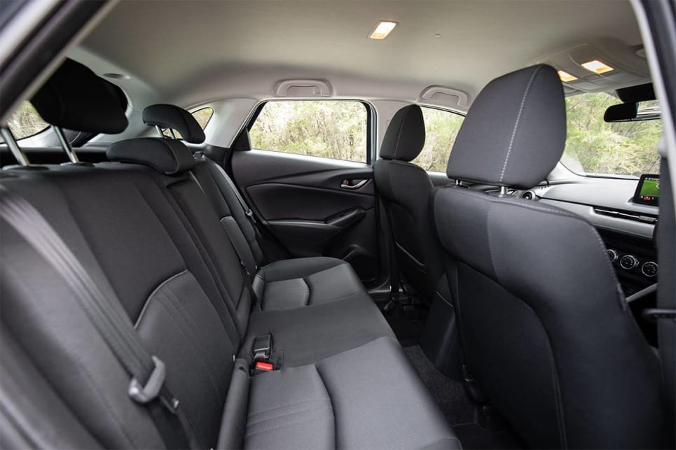 The Mazda offers a very cushy seat in the back. (image credit: Dean McCartney)