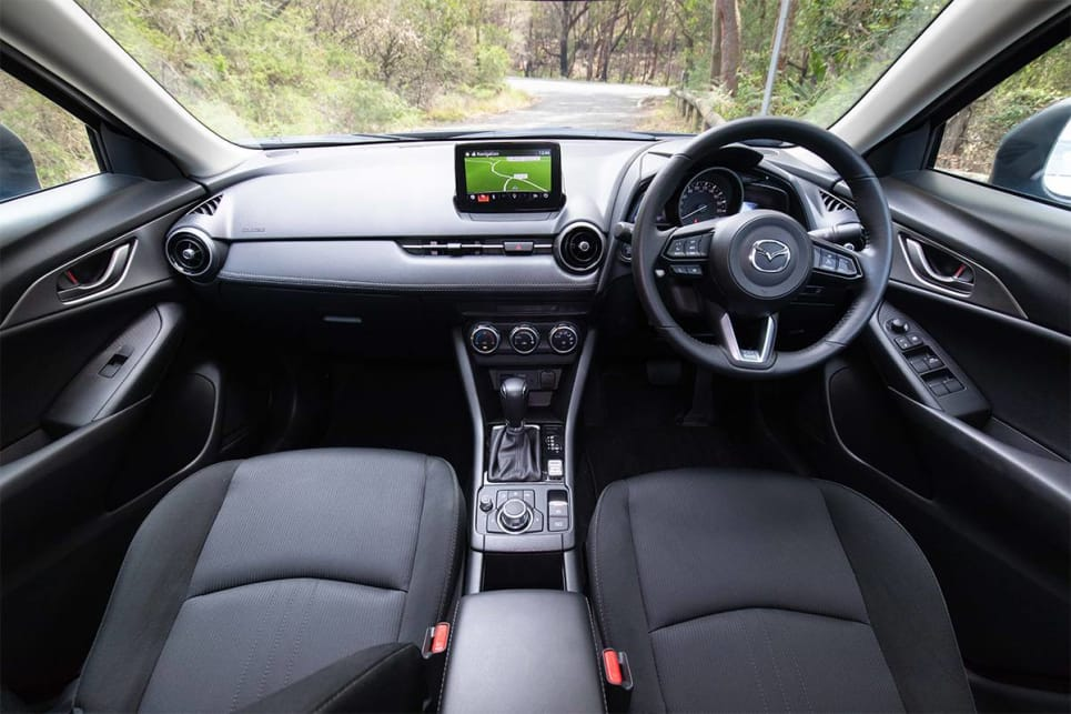 The Mazda steps things up in terms of front cabin presentation - it's more appealing as you sit inside it. (image credit: Dean McCartney)