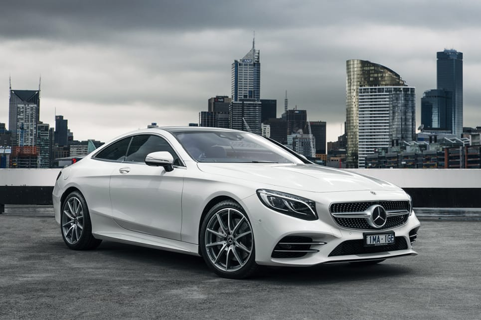 The S Class Coupe is obviously related to the sedan but manages a svelte appearance. (S560 model shown)