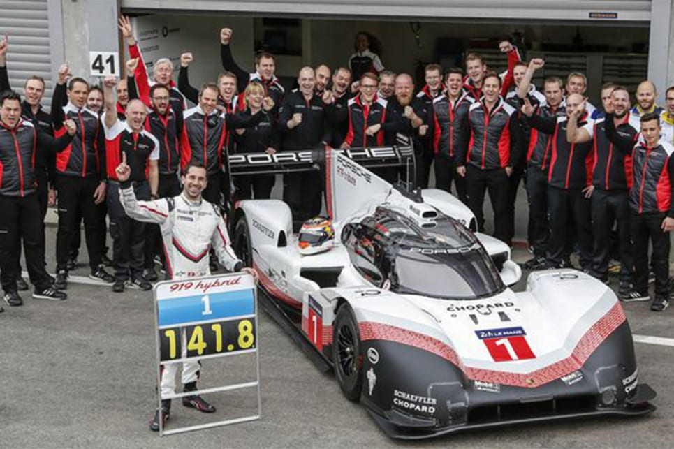 Porsche's 919 hybrid racing car is faster than the best F1 car around Spa-Francorchamps in Belgium. (image credit: Road and Track)