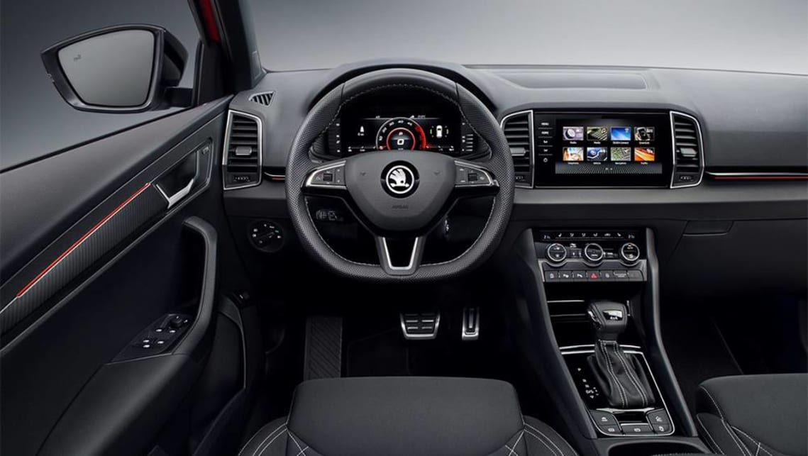 Inside, there's sports seats wrapped in three-ply Thermoflux fabric, and a leather-wrapped steering wheel.