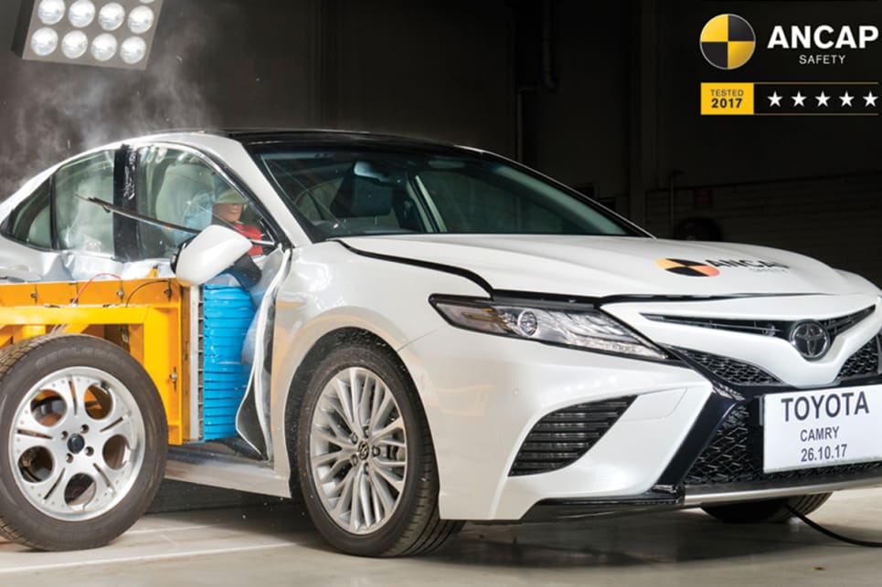 Attractive Toyotau0027s Latest Camry Has Scored 36.16 Points Out Of 37 In ANCAP Crash  Testing, Resulting In A Maximum Five Star Safety Rating.
