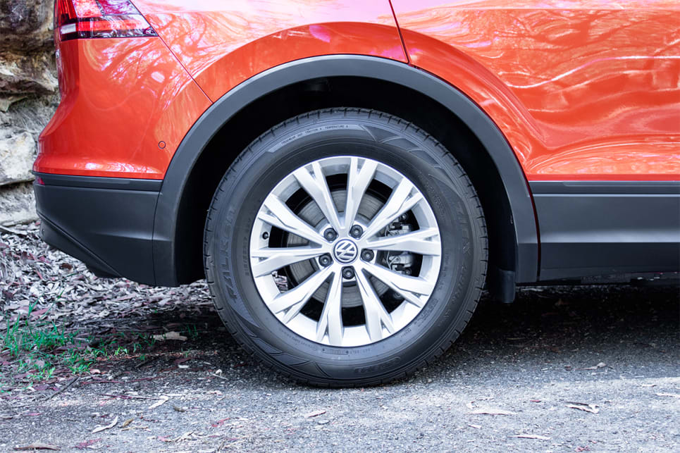 The Tiguan has 17-inch alloy wheels.