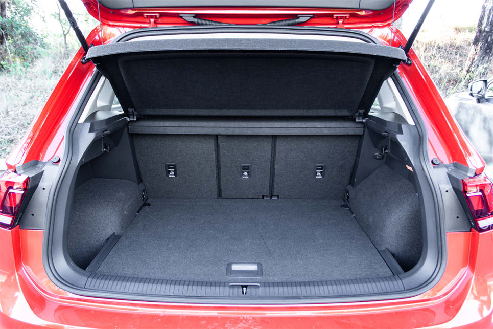 The Tiguan comes with a cargo blind / tonneau cover.