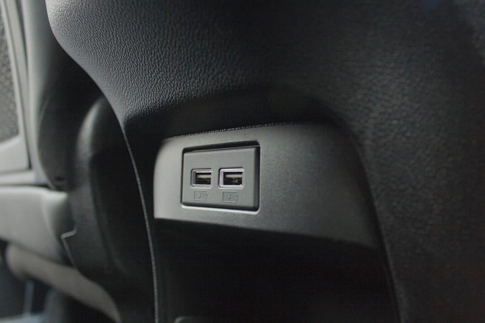 There are plenty of USB charge ports including two in the centre console.