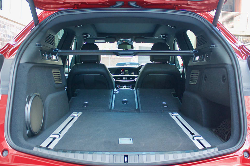 The rear seats fold down by way of a pair of levers in the boot area.