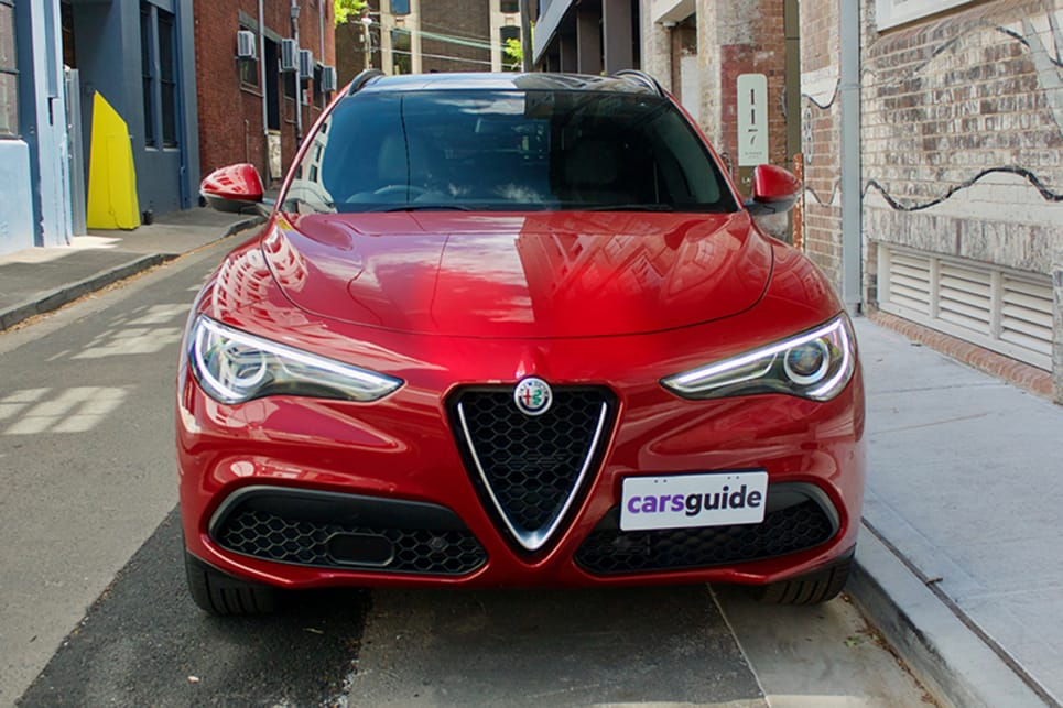 The Ti is undeniably an Alfa Romeo with the iconic inverted triangle grille finish.
