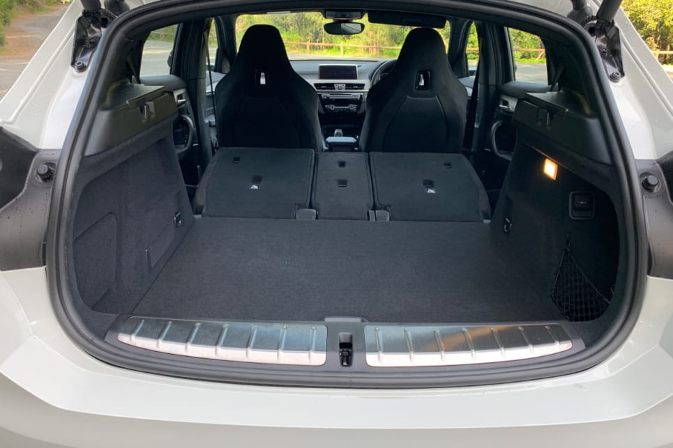 With all the seats down, boot space grows to 1355 litres.