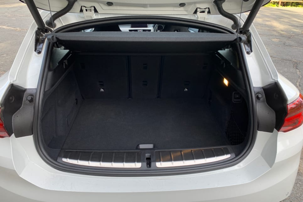 With the rear seats in place, there's 470 litres of cargo space.