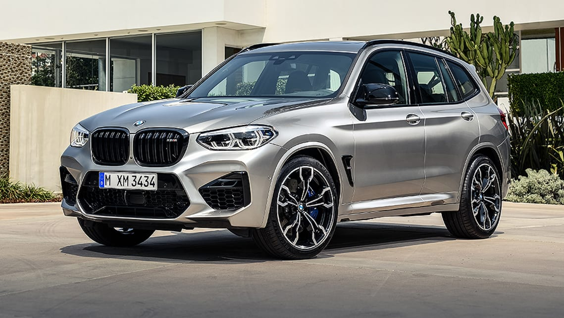 The X3 M Competition is distinguished by signature BMW M design elements including large front air intakes, black kidney grille surrounds and aerodynamic wheel well gills.