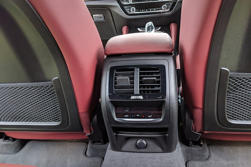 The rear seats provide plenty of room for the kids to spread out in, too, with creature comforts including air vents with temperature controls.