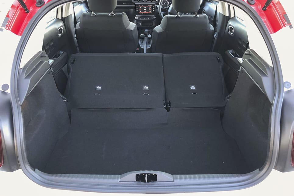 You get 922 litres with the seats folded down.