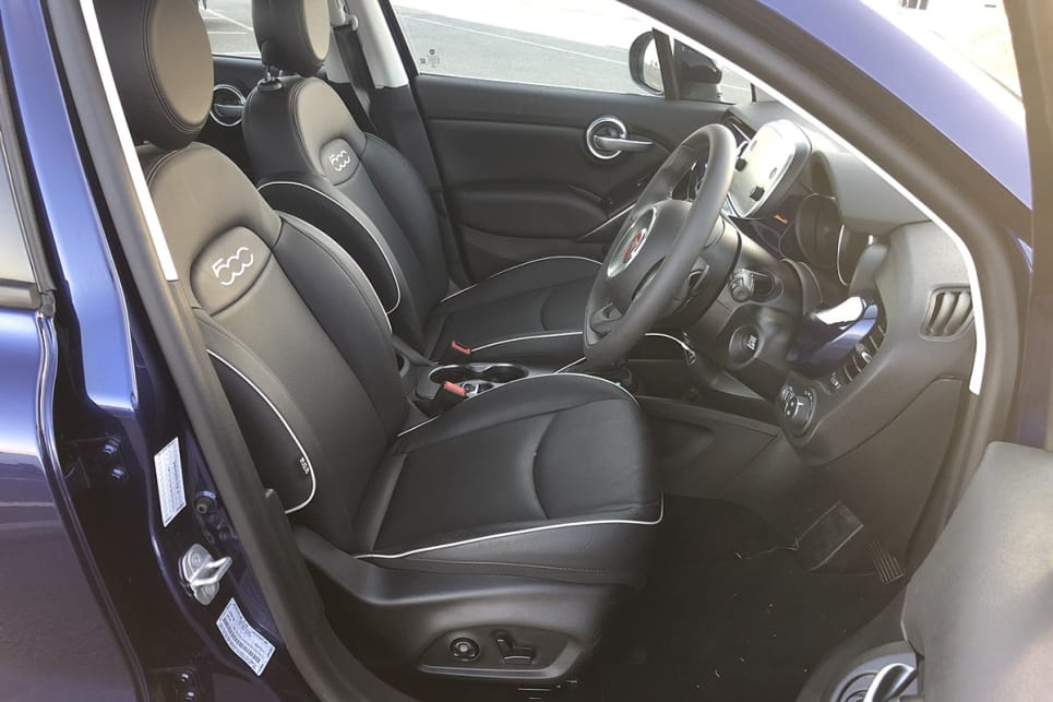 The doors each have a small bottle holder for a total of four and Fiat has got serious about cupholders - the 500X now has four.
