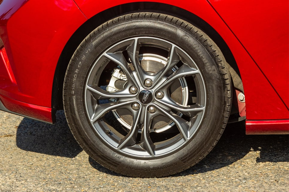 The ST-Line is fitted with the smallest alloys in the group, measuring in at 17-inches.