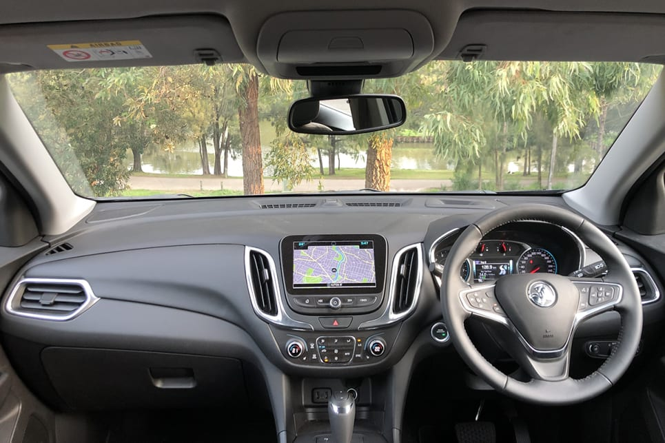 There's a nav-equipped 8.0-inch touchscreen.