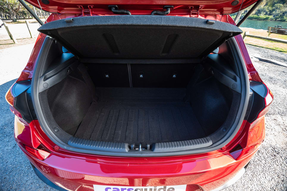 The i30 N Line's boot capacity to the cargo cover is 395L.