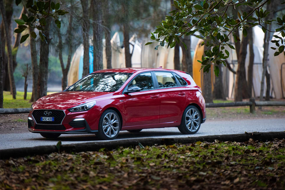 The i30 N Line's suspension has been locally tuned and set up for sporty driving.